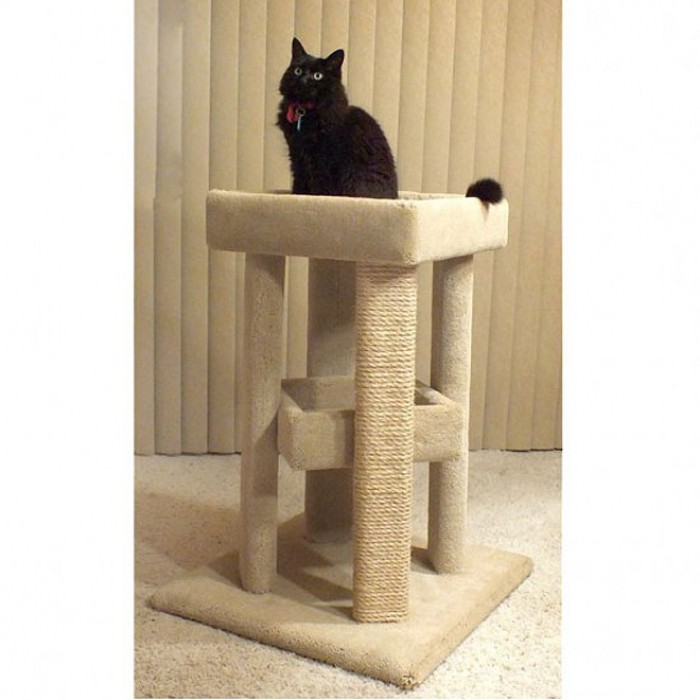 Carpet wooden cat furniture for large cats