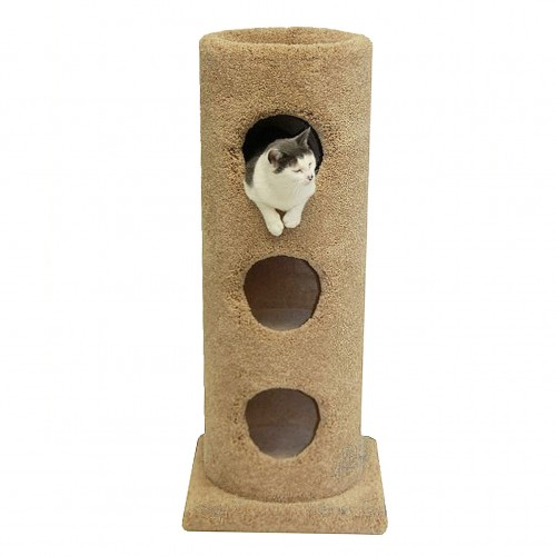 Carpet Cat Condo Three Story With Open Top