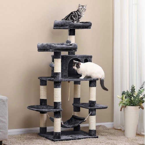 Multi Level Cat Tower Tree For Large Cats, Cat Furniture For Large Cats