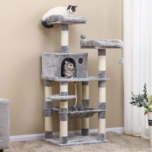 Cat Tree For Large Cats With Hammock, Cat Furniture For Large Cats